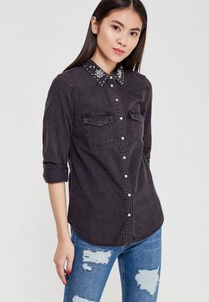 Рубашка джинсовая Topshop. Цвет: серый