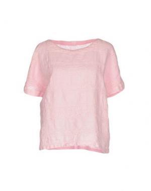 Блузка 120% LINO. Цвет: розовый