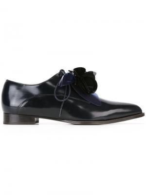 Туфли со шнуровкой Delpozo. Цвет: чёрный