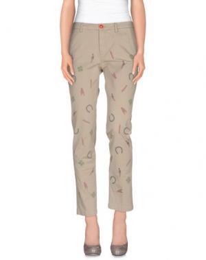 Повседневные брюки FEMME by MICHELE ROSSI. Цвет: светло-серый
