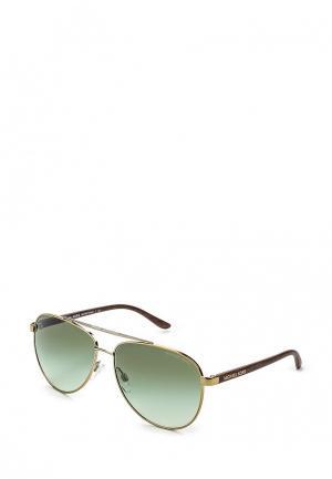 Очки солнцезащитные Michael Kors. Цвет: зеленый