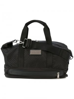 Перфорированная спортивная сумка Adidas By Stella Mccartney. Цвет: чёрный