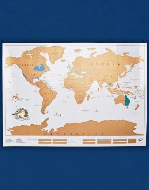 Luckies Желтая большая скретч-карта. Цвет: мульти