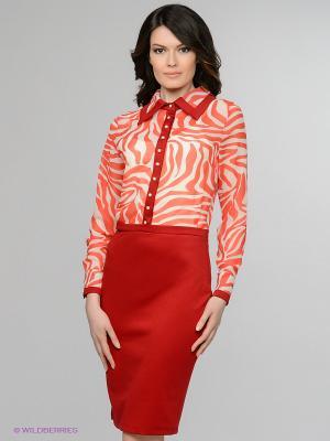 Платье Enna Levoni. Цвет: красный, белый