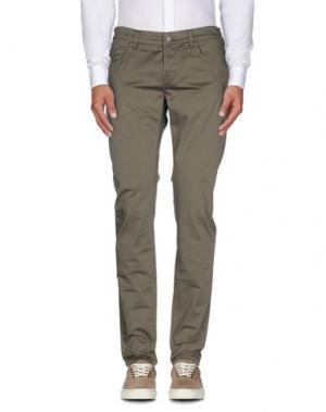 Повседневные брюки DNM-BRAND. Цвет: зеленый-милитари