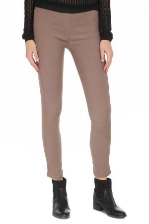 Облегающие брюки стрейч Alysi. Цвет: бежевый