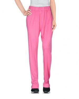 Повседневные брюки BIANCOGHIACCIO. Цвет: светло-фиолетовый