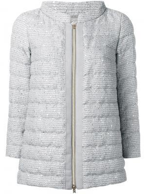Дутая куртка на молнии Herno. Цвет: серый