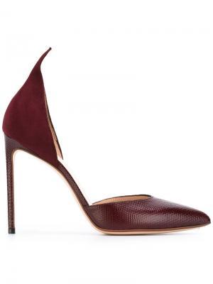 Туфли с заостренным носом Francesco Russo. Цвет: красный