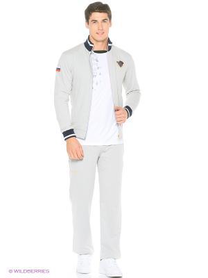 Спортивный костюм Stayer. Цвет: серый меланж