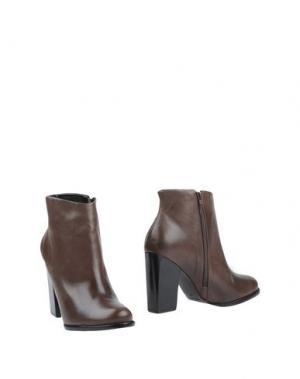Полусапоги и высокие ботинки VICENZA). Цвет: какао