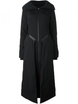 Дутое пальто Y-3. Цвет: чёрный