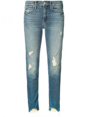 Рваные джинсы Mother. Цвет: синий