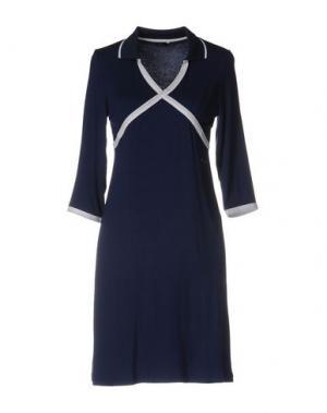 Короткое платье HARMONT&BLAINE. Цвет: темно-синий