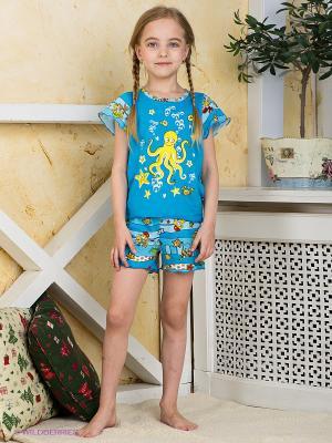 Пижама Хох. Цвет: лазурный, голубой, желтый