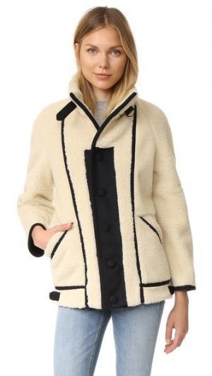 Пальто Bennington Steven Alan. Цвет: искусственный мех комбо