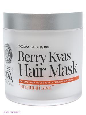 Bania detox маска для волос витаминная ягодный квас 400мл Natura Siberica. Цвет: розовый