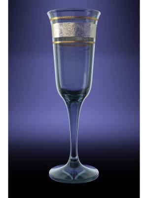 Набор 6 бокалов юнона с рисунком первоцвет Гусь-Хрустальный. Цвет: прозрачный