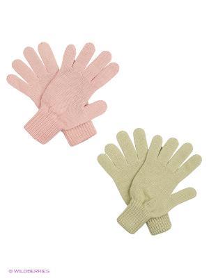 Перчатки FOMAS. Цвет: бледно-розовый, оливковый