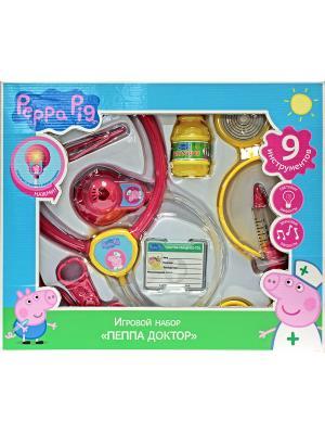 Игровой набор Пеппа-доктор, Свинка Пеппа Peppa Pig. Цвет: розовый, белый, голубой