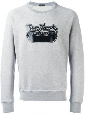 Толстовка с принтом логотипа Marc Jacobs. Цвет: серый