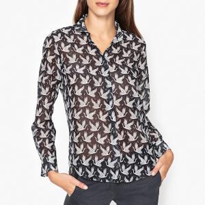 Рубашка с рисунком CLYDE HARTFORD. Цвет: темно-синий