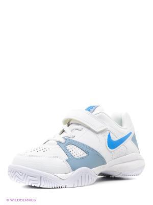 Кроссовки CITY COURT 7 BPV Nike. Цвет: голубой, серебристый, белый