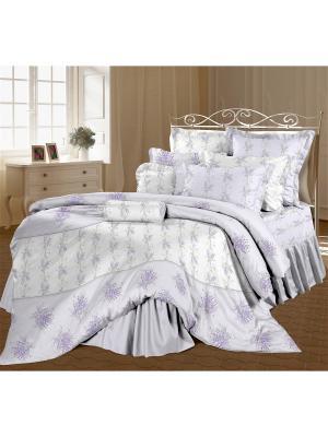Комплект постельного белья 1,5 перкаль Прованс Романтика. Цвет: белый