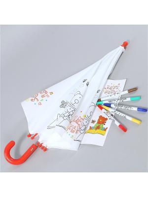 Зонт Zest. Цвет: белый, красный, черный