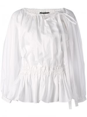 Блузка со складками Rochas. Цвет: белый