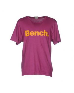 Футболка BENCH. Цвет: розовато-лиловый