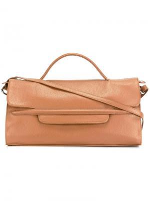 Большая сумка-тоут Zanellato. Цвет: телесный