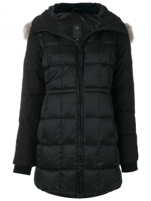 Куртка-пуховик с меховым воротником Canada Goose. Цвет: чёрный