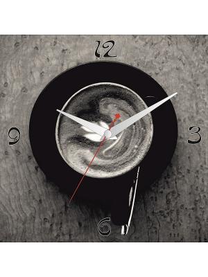 Картина стеновая с часовым механизмом 400*400мм ДСТ. Цвет: черный, серый
