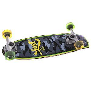 Скейт мини круизер  Hot Potato Grey/Black 7 x 24 (61 см) Lost. Цвет: черный,серый,зеленый,желтый