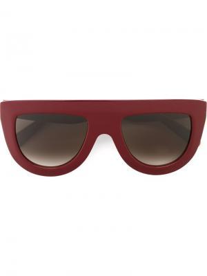 Солнцезащитные очки со сплошным ферхом Céline Eyewear. Цвет: красный