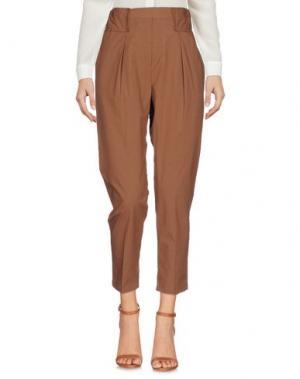 Повседневные брюки NINEMINUTES. Цвет: коричневый