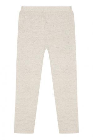 Серые меланжевые брюки с карманами Bonpoint. Цвет: серый