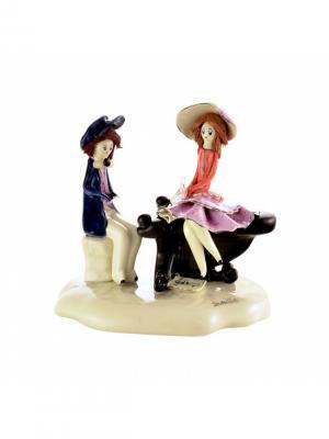 Статуэтка Пианист играет для дамы Zampiva. Цвет: черный, красный, синий