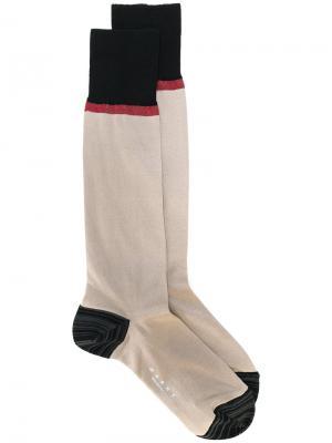 Носки с полосами Marni. Цвет: коричневый