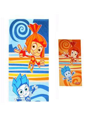 Махровые полотенца фиксики 1066-01-1066-01. Цвет: голубой