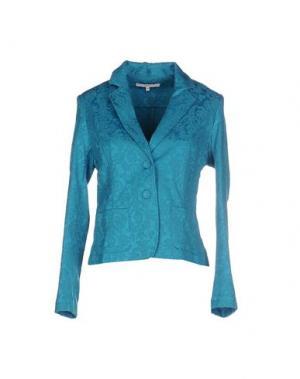Пиджак GAZEL. Цвет: бирюзовый