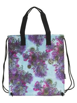 Сумка-рюкзак для обуви с ручками. Seventeen. Цвет: голубой, оливковый, сиреневый, черный