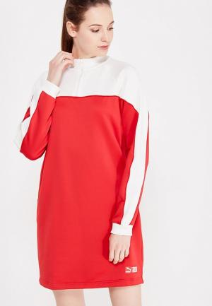 Платье PUMA. Цвет: красный