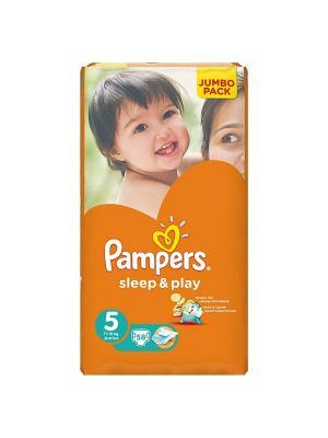 Подгузники Sleep & Play 11-18 кг, 5 размер, 58 шт. Pampers. Цвет: оранжевый