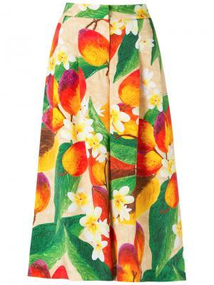 Floral and mango culottes Isolda. Цвет: жёлтый и оранжевый
