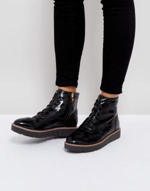 London Rebel Ботинки на шнуровке. Цвет: черный