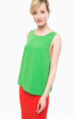 Зеленый трикотажный топ POIS. Цвет: зеленый