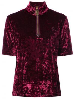 Топ с вырезом на молнии Marc Jacobs. Цвет: розовый и фиолетовый