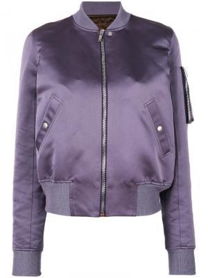 Куртка-бомбер на молнии Rick Owens. Цвет: розовый и фиолетовый